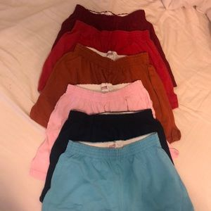 6 pairs of Soffe brand shorts